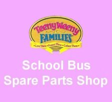 Vintage 1995 Teeny Weeny Families ~ SCHOOL BUS ~ Spare Parts Shop