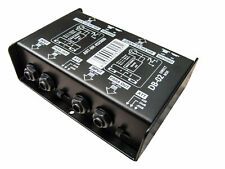 deetech DB-02 - Stereo Di-Box Direct Box 2-Kanal passiv XLR Output Klinke Input