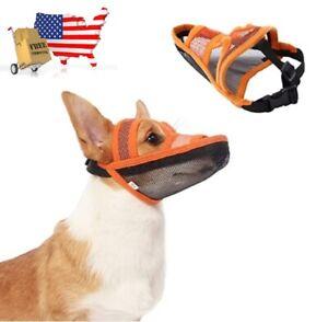 Dog Muzzle Air Mesh Breathable and Drinkable Anti-Biting Anti-Barking / Licking