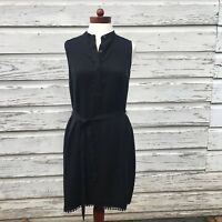 Banana Republic Dress Black Size 2P NWT MSRP $89 LBD Sleeveless Summer