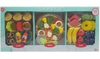PlayGo 31276C Soft Play Food 50-Pieces Lunch/Pizza/Fruit