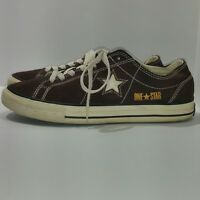 CONVERSE ONE STAR Pinstripe Brown Suede Ox Athletic Shoes Unisex 7.5/9.5