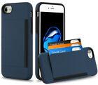 iPhone SE (2nd Gen) & iPhone 7/8 - Blue Hybrid Credit Card Pocket Nonslip Case