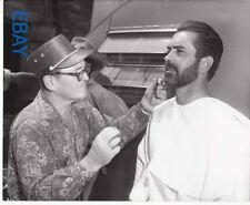 Tyrone Power gets beard trimmed candid on set Untamed VINTAGE Photo