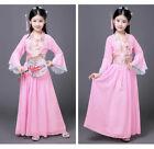 Kids Girls Chinese Hanfu Tang Dynasty Costume Princess Silk Photography Dress