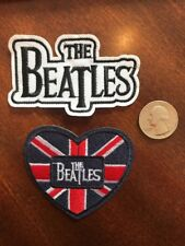 (2) Beatles Rock & Roll group embroidered iron on PATCHES JOHN GEORGE PAUL RINGO