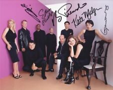 STAR TREK VOYAGER cast photo signed by Kate Mulgrew Tim Russ