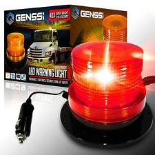 40 LED Emergency Flash Strobe and Rotating Beacon Warning Light 15W Red