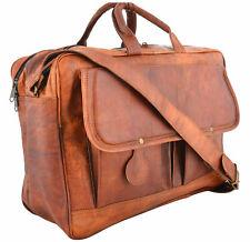 Genuine Artist Vintage Leather Men's Messenger Shoulder Laptop Briefcase Bag