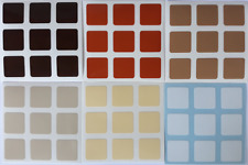 Magic Cube Stickers 3x3 57mm Gradient BROWN - 6 Tons of Brown