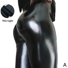 Frauen reizvolle Gamaschen PU Leder Hosen dehnbare T hohe dünne Hosen W6L3