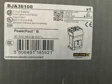 Square D Bja36100 3p 600v 100a 65k I Line Circuit Breaker Powerpact New In Box
