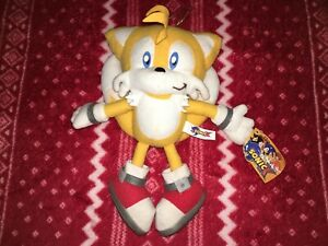 """Official Play-By-Play 7"""" SONIC X Tails Sonic Plush Toy Doll 2005 Spain"""