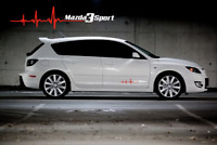 Heartbeat mazda 3 sport decal / sticker for car wall or laptop UK