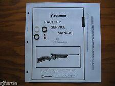 Crosman 160 167 Co2 Seal Kit - Factory Service Manual - Instructions - Guide