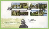 G.B. 2016 Landscape Gardens set on Royal Mail First Day Cover, Newcastle upon Ty