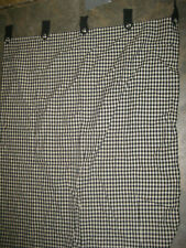 JCP Black & White Checked Plaid Curtains 60 x 40 in plus 4 in tabs NICE!