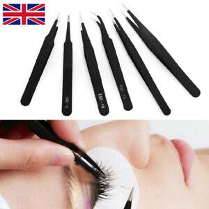 6Pcs Professional Individual Eyelash Extension Tweezers ESD10,11,12,13,14,15 Set