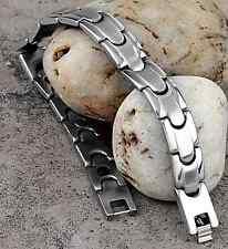 "Stainless Steel Magnetic Magnet Bracelet Bangle Link Chain 0.43"""