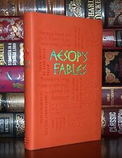 Aesop's Fables Illustrated Unabridged Deluxe Soft Leather Feel Edition Gift