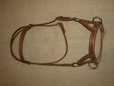 Western all harness leather natural horse sidepull USA Custom quality USA H4015