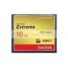 Tarjeta de memoria flash SanDisk CompactFlash 16GB Extreme 800X 120MB/S CF ct ES