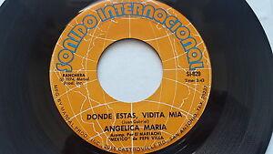 Angelica Maria - Donde Estas Vidita Mia / Amendements Vemos Manana 1974 Ranchera