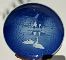 1974 Bing & Grondahl Christmas Plate Annual Collectors Blue White 7 1/4 in EUC