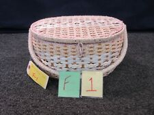 Dritz Sewing Basket Storage Oval Insert Weave Woven Wicker Vintage Japan 5072