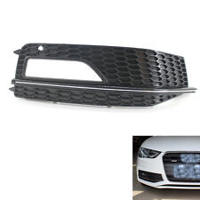 Gloss Black Right Front Bumper Fog Light Grille For Audi A4 S-Line S4 13 14 15