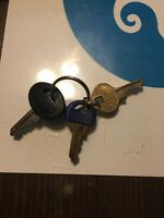 Vintage Lot Master Lock Keys. 3. No Numbers