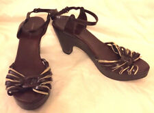 COSTUME NATIONAL Women's shoes BROWN SIZE 39.5  US 9