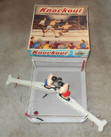 1950s Knockout Electronic Boxing Toy Game #777 box battery operated Tin Vintage