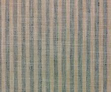 "BALLARD DESIGNS RABUN MINERAL BLUE & NATURAL STRIPES DESIGN FABRIC BY YARD 54""W"