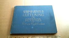 1918 Art Lettering Book Wm H Gordon antique vintage old commercial art pen ink