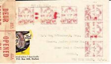 South Africa POSTAL METERS M263-DURBAN-ILLUSTRATED TIRE ADVERTISING-WWII