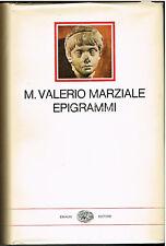 M. Valerio Marziale: Epigrammi 1a ed. Einaudi 1964 testo latino a fronte A37