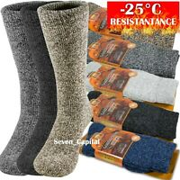 3 Pairs Mens Winter Heavy Duty Warm Thermal Merino Lambs Wool Boots Socks 10-13
