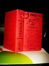 GUIDE MICHELIN 1965< GUIDE ROUGE COLLECTOR  FRANCE >1014 pages- TRES BON ETAT .