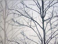 PRESTIGIOUS TEXTILES 100% COTTON CURTAIN FABRIC WILLOW TREE GREY BLACK WHITE P/M