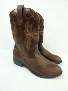 Frye and Co. Women's Bailey Patch Brown Embroidered Western Boots Size 5