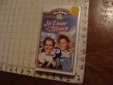 Vintage SEALED VHS: SO DEAR to my HEART walt disney masterpiece collection