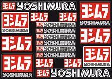 Yoshimura Decals Stickers for Exhaust Graphic Set Vinyl Adhesive 18 Pcs Black