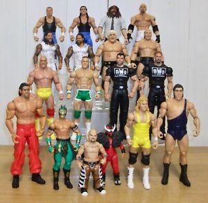 WWE wrestling action figures inc. John Cena, Hulk Hogan, The Usos & Goldberg