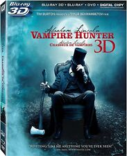Abraham Lincoln:Vampire Hunter 3D+Blu Ray+Dvd+Digital Copy-New (HMV-231 / HMV-38