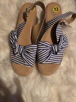 Franco Sarto Sandals Size 13 Blue/white