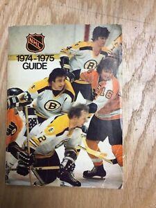 1974-75 NHL Guide Book Bobby Clarke, Phil Esposito & Bobby Orr Cover