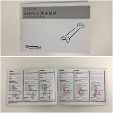 New Vauxhall Service Book (Stamped) Service History Corsa Astra Vectra Insignia
