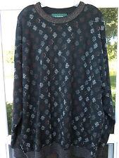 Tundra Men's Wool Black Textured Geometric Design Dot Crewneck Sweater XL Canada