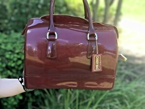 NWT Furla Candy Satchel Bag- Dark Red